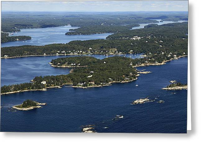 Maine Beach Greeting Cards - South Bristol, Maine Greeting Card by Dave Cleaveland