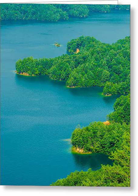 Walhalla Greeting Cards - South Carolina Lake Jocassee Gorges Upstate Mountain   Greeting Card by Alexandr Grichenko