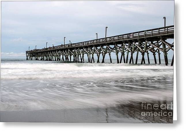 Ocean Images Greeting Cards - South Carolina Pier Greeting Card by Debbie Green
