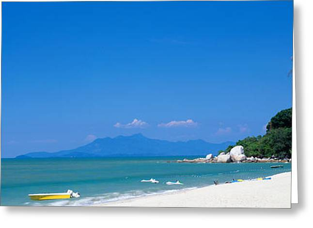 Blue Sailboat Greeting Cards - South China Sea Malaysia Greeting Card by Panoramic Images