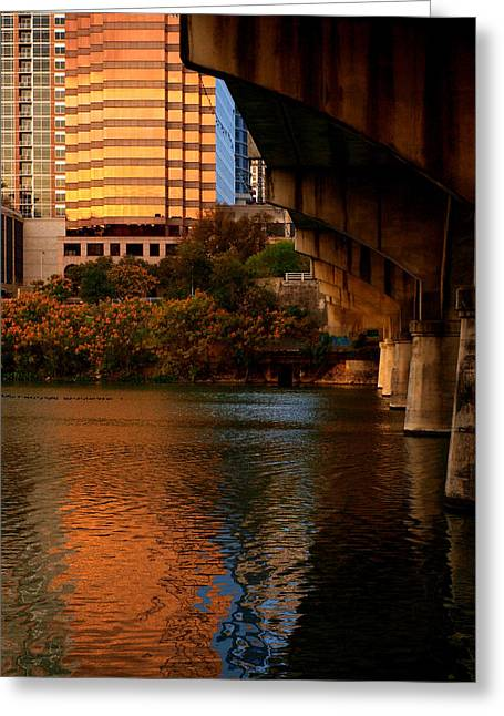 South Congress Greeting Cards - South Congress Bridge Greeting Card by James Granberry