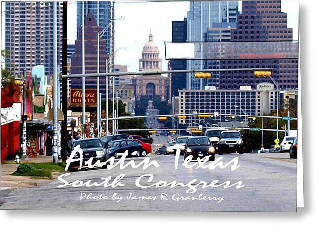 South Congress Greeting Cards - South Congress Greeting Card by James Granberry