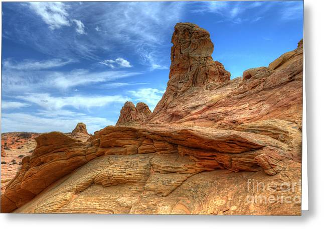 South Coyotte Buttes 8 Greeting Card by Bob Christopher