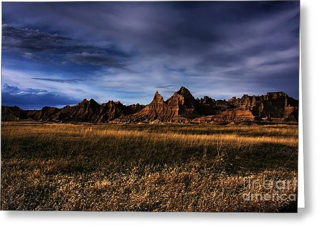 Commercial Photography Greeting Cards - South Dakota Badlands - The Landscape Greeting Card by Wayne Moran