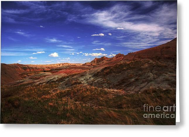 Moran Greeting Cards - South Dakota Badlands Beautiful Afternoon Greeting Card by Wayne Moran