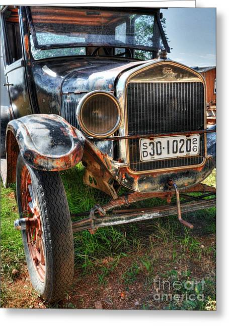 Rusted Cars Greeting Cards - South Dakota Classic Greeting Card by Mel Steinhauer