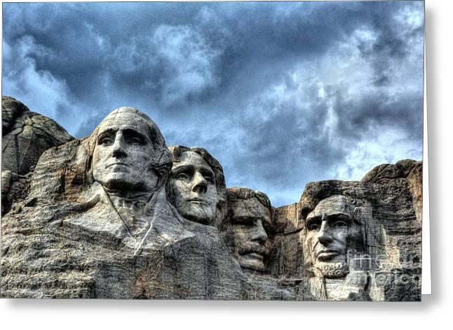 Abe Lincoln Art Greeting Cards - South Dakota Rocks 2 Greeting Card by Mel Steinhauer