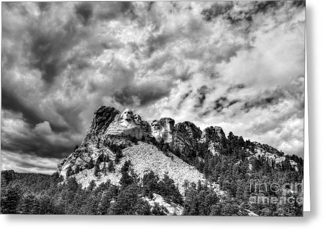 Black Teddy Greeting Cards - South Dakota Rocks BW Greeting Card by Mel Steinhauer
