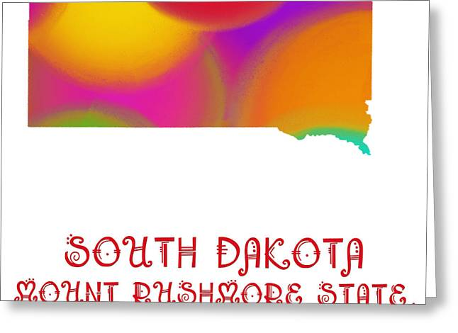South Dakota Map Greeting Cards - South Dakota State Map Collection 2 Greeting Card by Andee Design