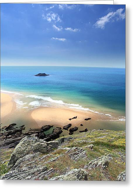 Beach Scenery Greeting Cards - South Devon Coastline Greeting Card by Ollie Taylor