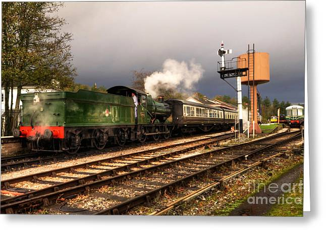 Dart Stations Greeting Cards - South Devon Departure  Greeting Card by Rob Hawkins