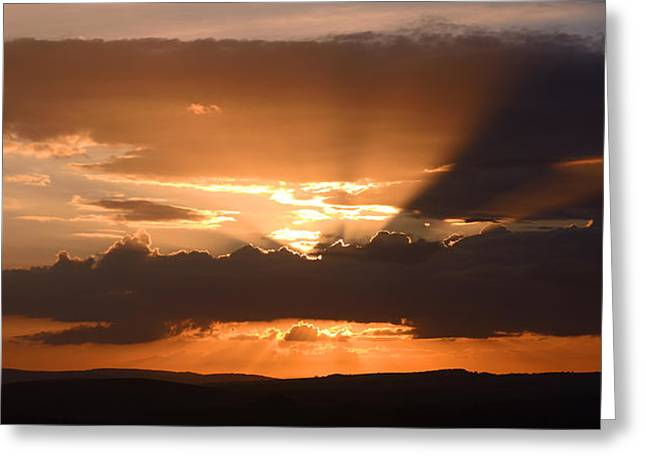 Mchugh Greeting Cards - South Downs Sunset Greeting Card by Malc McHugh