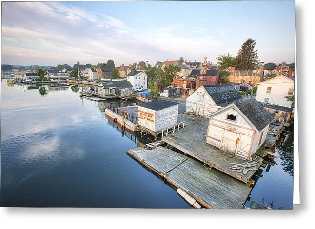 South End Docks Greeting Card by Eric Gendron