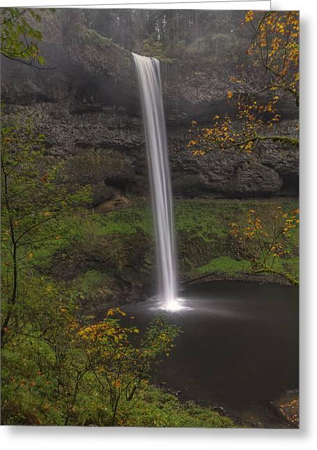 South Falls 1  Greeting Card by Mark Kiver