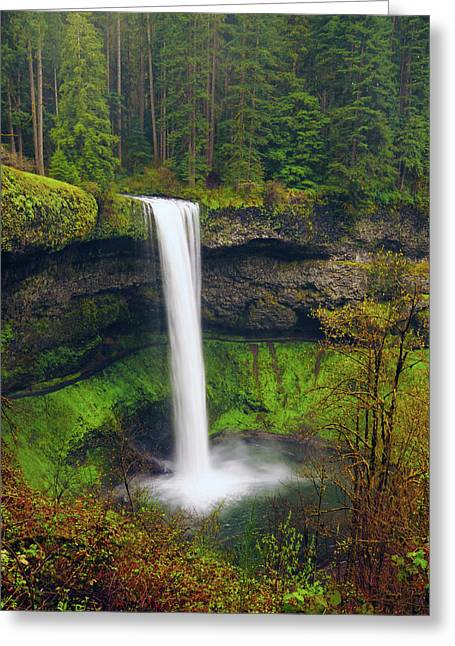 South Falls In Spring Greeting Card by Michel Hersen