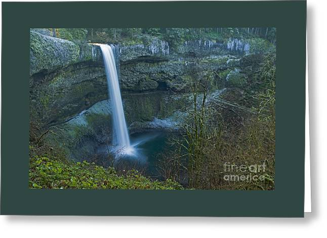 Stream Greeting Cards - South Falls Winterscape Greeting Card by Nick  Boren