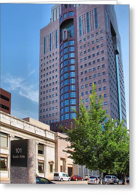 Architecture Metal Prints Greeting Cards - South Fifth Street Greeting Card by Steven Ainsworth