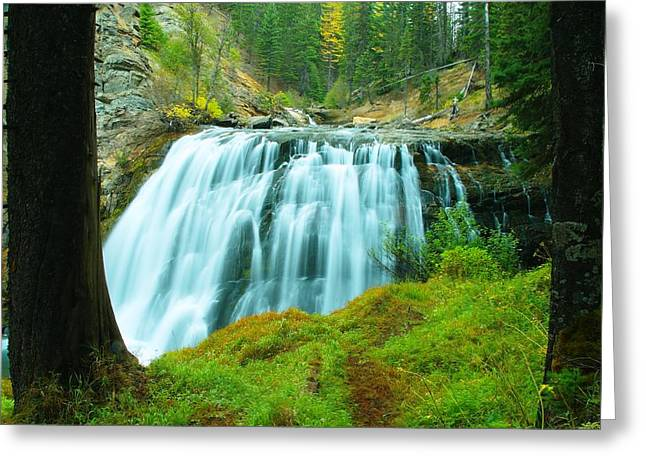 Geology Photographs Greeting Cards - South Fork Falls  Greeting Card by Jeff  Swan