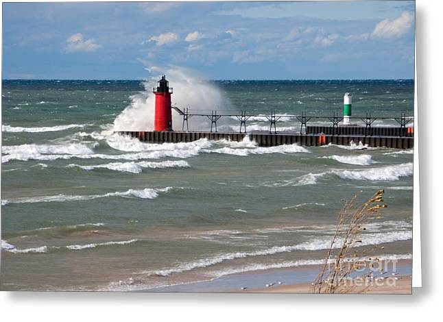 Ann Horn Greeting Cards - South Haven Splash Greeting Card by Ann Horn