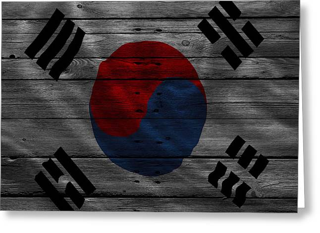 Continent Greeting Cards - South Korea Greeting Card by Joe Hamilton