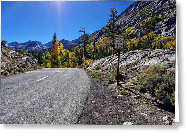 Roadway Greeting Cards - South Lake road in Fall Greeting Card by Scott McGuire