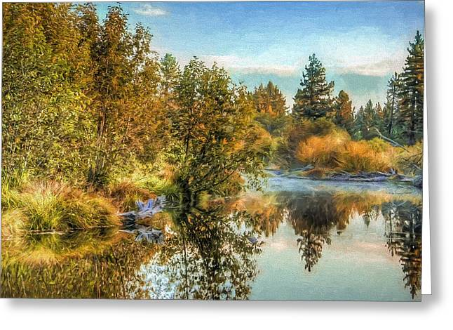 Fishing Creek Greeting Cards - South Lake Tahoe Creek Greeting Card by Maria Coulson