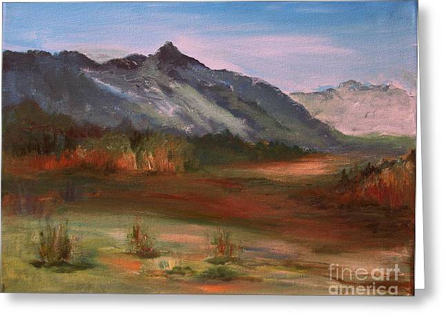Julielueders Greeting Cards - South Mountain  Greeting Card by Julie Lueders