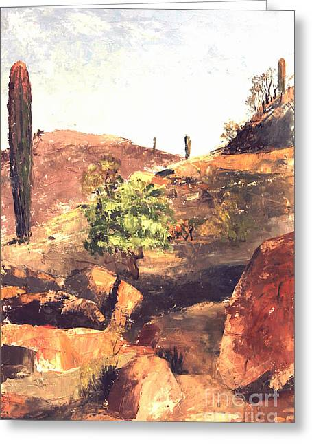 South By Southwest Greeting Cards - South Mountain Park Phoenix  Greeting Card by Art By Tolpo Collection