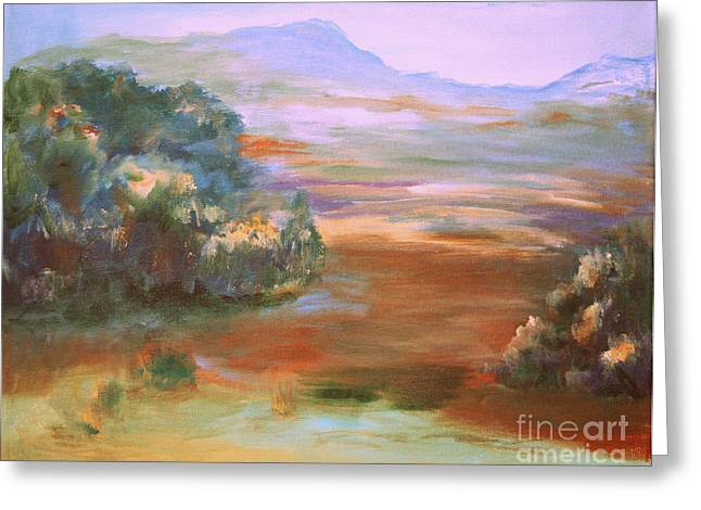 Julielueders Greeting Cards - South Mountain second in the series Greeting Card by Julie Lueders