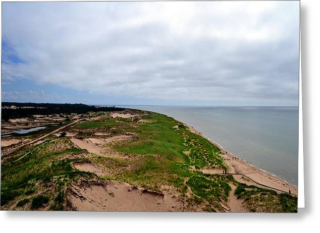 South Of Big Sable Point Greeting Card by Michelle Calkins