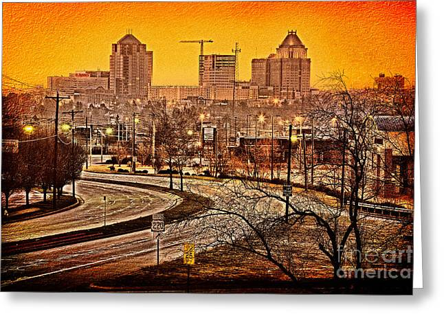 Photographers Greensboro Greeting Cards - South on 220 - Greensboro Greeting Card by Dan Carmichael