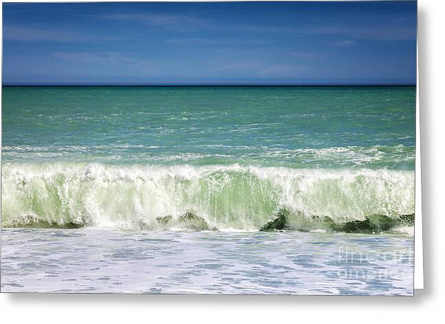 Blue Green Wave Photographs Greeting Cards - South Pacific 2 Greeting Card by Colin and Linda McKie