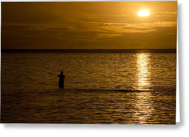 Beach At Night Greeting Cards - South Pacific 25 Greeting Card by Christina Czybik