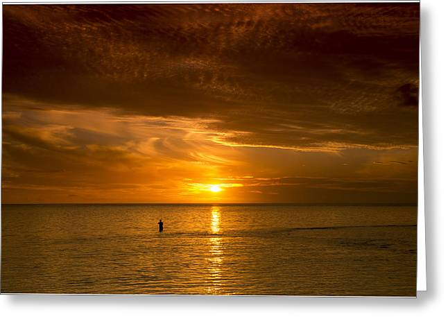 Beach At Night Greeting Cards - South Pacific 26 Greeting Card by Christina Czybik