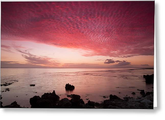Beach At Night Greeting Cards - South Pacific 28 Greeting Card by Christina Czybik