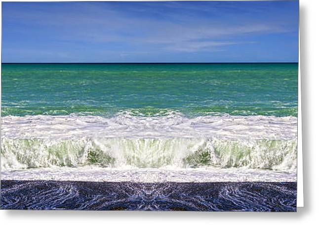 Blue Green Wave Greeting Cards - South Pacific 3 Greeting Card by Colin and Linda McKie