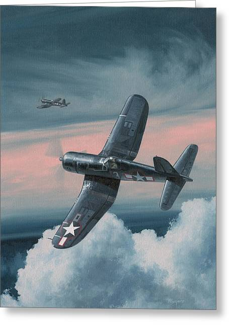 Aviator Greeting Cards - South Pacific Hot Rods Greeting Card by Wade Meyers