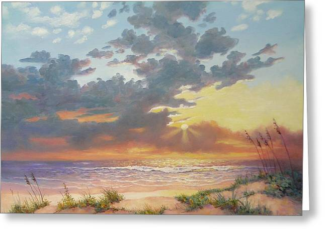 Sea Grasses On Sand Dunes Greeting Cards - South Padre Island Splendor Greeting Card by Carol Reynolds