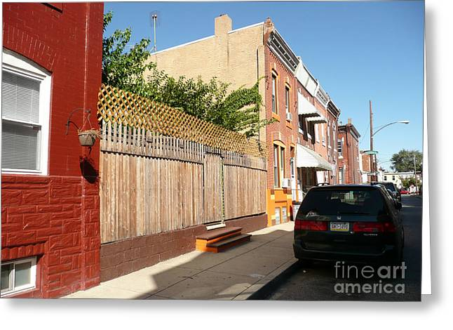 South Philadelphia Greeting Cards - South Philly  Greeting Card by Allan Richter
