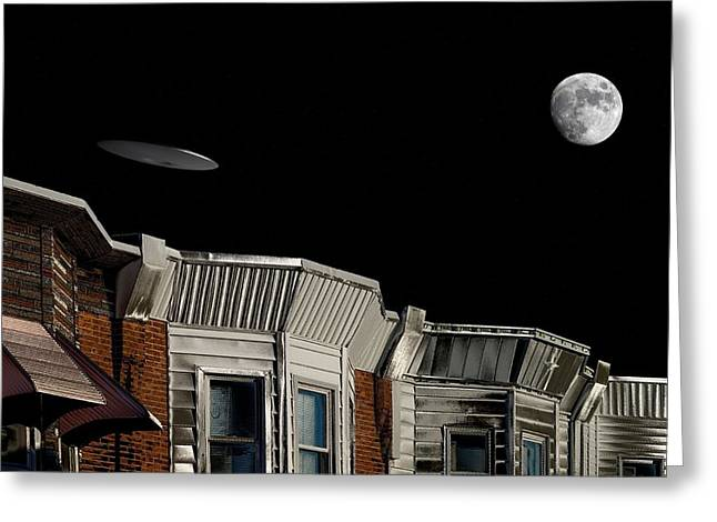 South Philadelphia Greeting Cards - South Philly Alternate Universe Greeting Card by John Janette