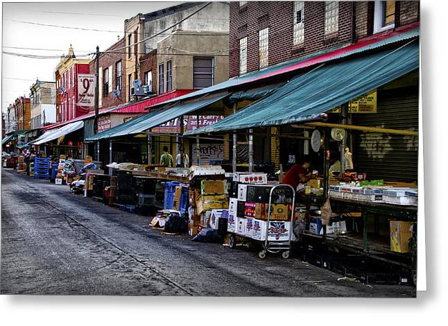 South Philly Italian Market Greeting Card by Bill Cannon