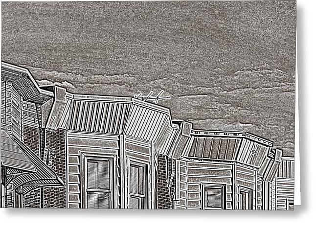 South Philadelphia Greeting Cards - South Philly Rooftops Greeting Card by John Janette