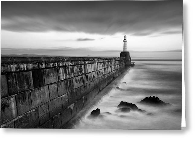 Harbour Wall Greeting Cards - South Pier 1 Greeting Card by Dave Bowman