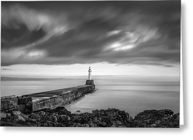 Breakwater Greeting Cards - South Pier 2 Greeting Card by Dave Bowman