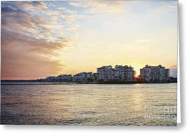 Eyzen Medina Greeting Cards - South Pointe Sunset Greeting Card by Eyzen M Kim