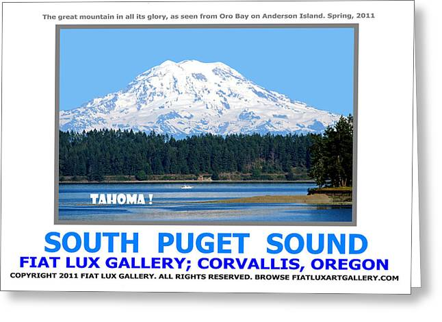 South Puget Sound Greeting Cards - South Puget Sound Greeting Card by Mike Moore FIAT LUX