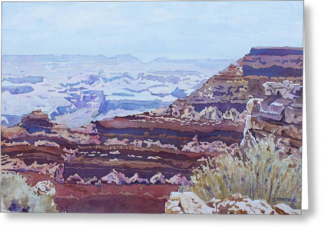 South Rim Greeting Cards - South Rim Color Greeting Card by Jenny Armitage