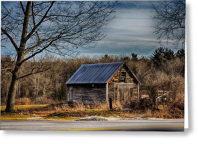 Old Barns Greeting Cards - South Road Shack Greeting Card by Tricia Marchlik