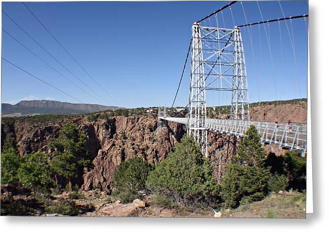 Royal Gorge Bridge Greeting Cards - South Royal Gorge Bridge Greeting Card by Marcelo Albuquerque