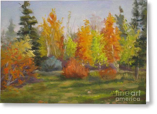 Park Scene Paintings Greeting Cards - South Sask. Dr. Park Greeting Card by Mohamed Hirji